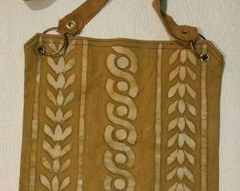 Boho bag, bohemian canvas messenger bag