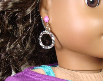 "Hoop Earring Dangles for 18"" Play Dolls such as American Girl®"