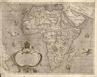 Italian Map of Africa in the year 1600, Map, Print