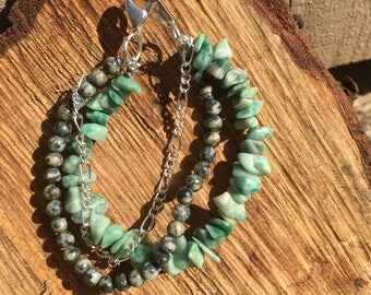 Stone & Chain Bracelet
