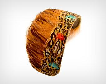 50s Hat // 1950's Pheasant Headband // Vintage Fascinator/Headpiece