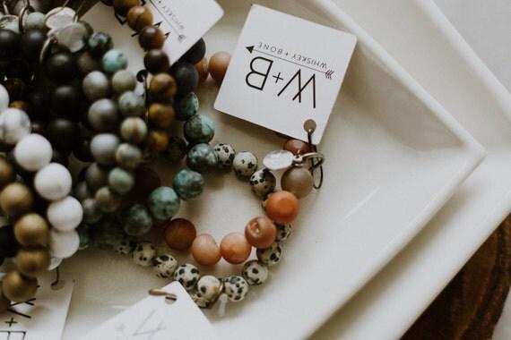 White Howlite Stone Bracelet / Basic Stacking Bracelet / Howlite Stone Bracelet / Minimal Beaded Bracelet / Gift for Women /