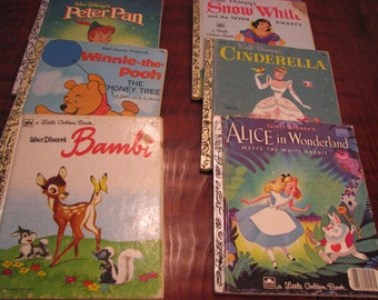 8 Vintage Golden Books (a)