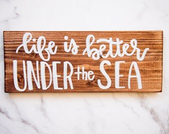 Under the Sea wooden sign