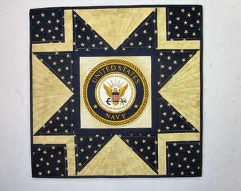 United States Navy Wall Hanging Quilt