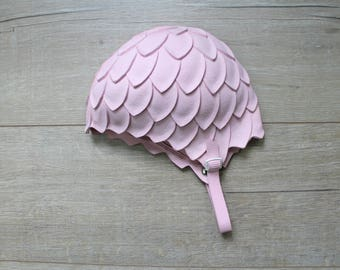 Vintage 60s pink petal Playtex bathing cap, one size
