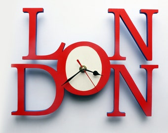 Handmade London Wall Clock, London Handmade Wall Quartz Clock, Speciality Clock, Unique Gift