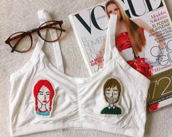 Eternal sunshine of the spotless mind bralette /Movie clothing/ Clementine and Joel crop top
