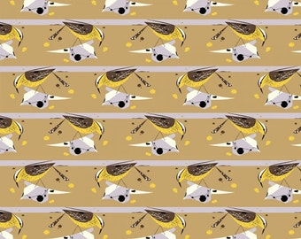 Cactus Wren- Organic Cotton Fabric - Charley Harper Western Birds for Birch Fabrics