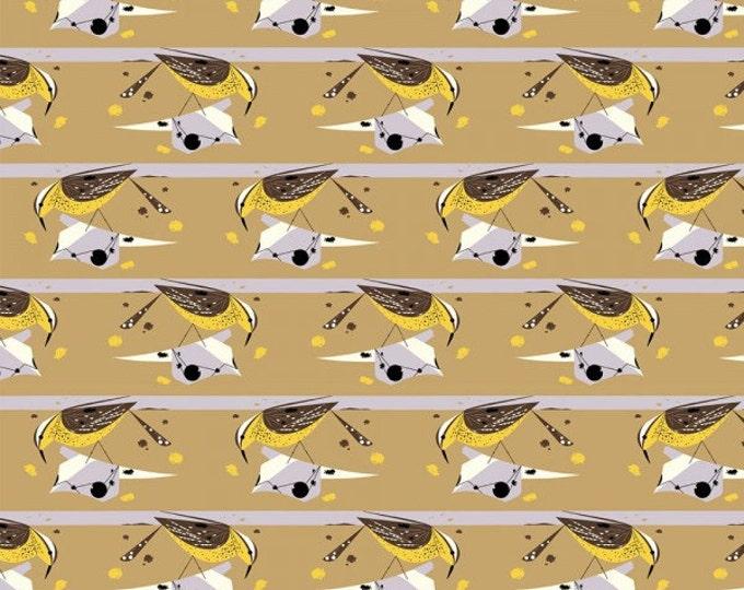 Cactus Wren- Organic Cotton Fabric - Charley Harper Western Birds for Birch Fabrics
