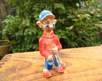Vintage 1950's TEE VEE Plastic Talking Dilly Dally Puppet - Howdy Doody Plastic Talking Puppet