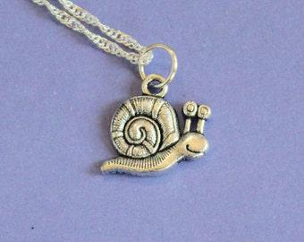 Silver Snail Necklace,Snail Pendant,Snail Charm,Silver Snail,Silver Pendant,Snail Jewellery,Silver Charm,Snail Charm,Silver Jewellery,Snail