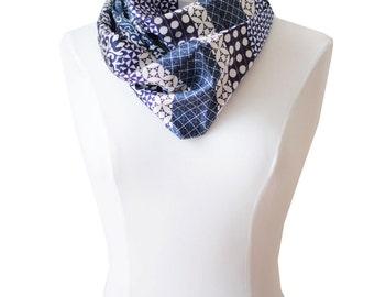 Ref: E24, snood, handmade in lyon, high quality silk, French craftsmanship.
