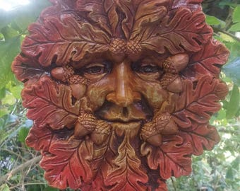 Large Green man Plaque 'Autumn' Jack in the green, pagan, wiccan, mayday,