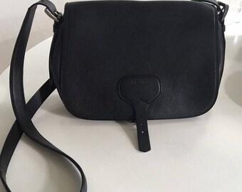 PRADA authentic classic black saddle bag / messenger bag / handbag / shoulder bag / crossbody bag
