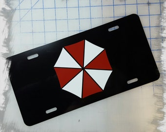 Umbrella Corporation Logo Custom License Plate