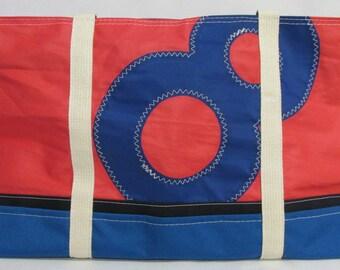 nautical bag, recycled sail bag, sailcloth tote, DA029E