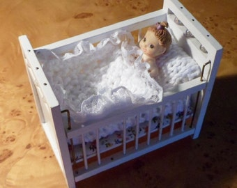 DOLLS HOUSE COT Bedding.
