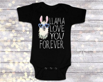 Baby Boy Clothes, Llama Love You Forever, Boy Shirt, Llama Shirt, Hipster Boy Shirt, Baby Boy Bodysuit, Available in Any Size, Trendy Boy