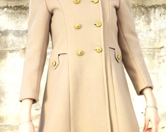 Vintage woolen coat made in italy size XS, 1960s