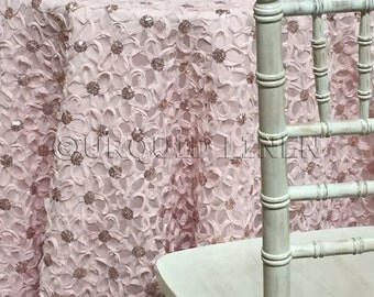 Daisy Sequins in Blush - Ideal for Weddings & Bridal Events