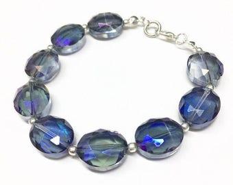 Smoked Lavender Glass Bracelet