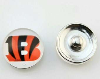 Cincinnati Bengals Snap Button Charm-Qty:1