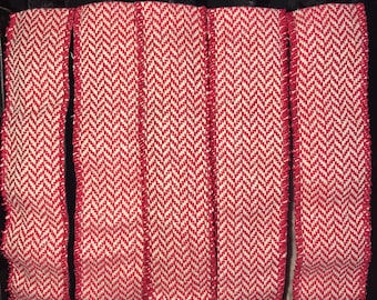 Red Herringbone Wide Blitzy Band, Non-SLIP Adjustable Headband, Nonslip headband, Blitzy Band