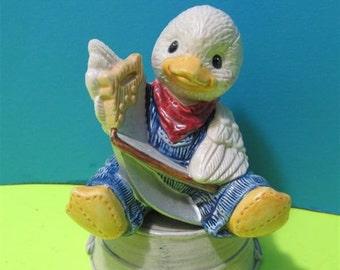 Vintage Ceramic Ducks Salt & Pepper Shakers Animal Farm Japan #881