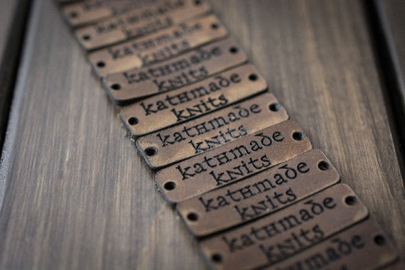 Knitting Labels Personalized : Personalized knitting labels custom leather by popovleather