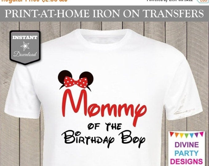 SALE INSTANT DOWNLOAD Print at Home Red Girl Mouse Mommy of the Birthday Boy / Printable / Family / Party / Item #2319