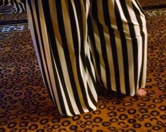 Black and White Striped Pantaloons
