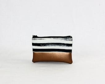 Mini bag - copper of stripes
