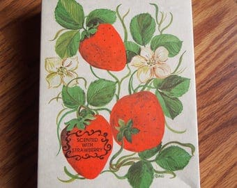 Vintage Strawberry Scented Stationery