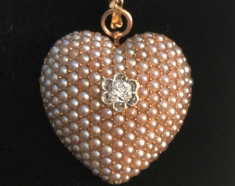 Victorian Puffy Heart Pendant
