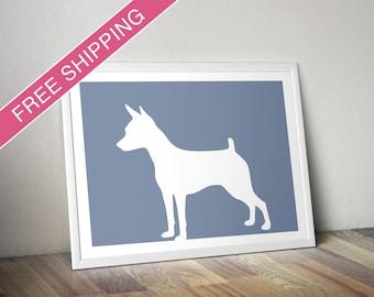 Toy Fox Terrier Print - Toy Fox Terrier Silhouette