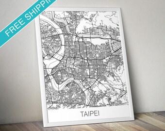 Taipei Map Print