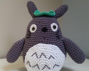 Totoro - Grey Amigurumi crocheted toy. My Neighbour Totoro