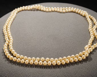 Vintage Traditional Style Faux Pearl Glass Beads Round Necklace Jewelry -K#13