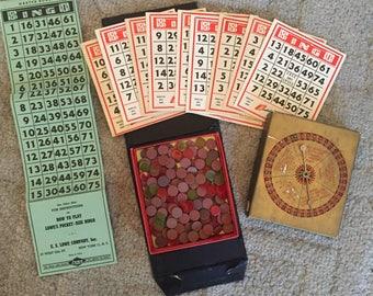 Vintage 1942 Bingo game