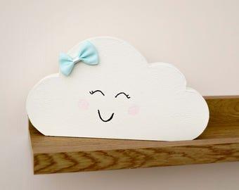 Fluffy Cloud Pretty Wooden Nursery Ornament
