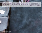 Hand dyed 16 count AIDA fabric for cross stitch - 'Old Witch Cape'