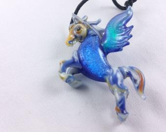 Pegasus - Glass Pendant Necklace