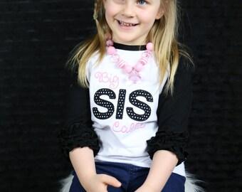 Big Sister Shirt -- Big Sis shirt -- Big Sister Announcement T shirt