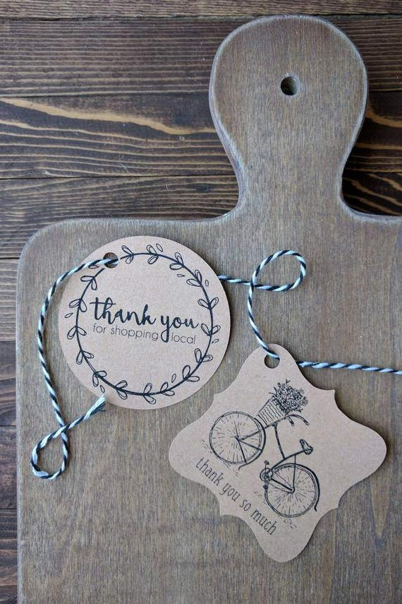 Custom Thank You tags, personalized tags, mason jar tags ...