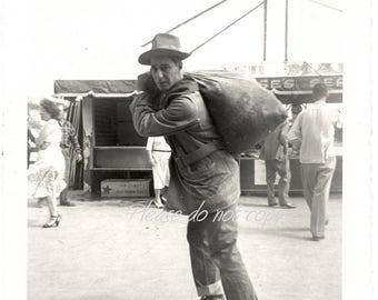 Vintage Photograph ~ BIG fish haul  ~ Americana