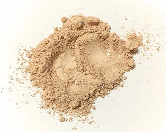 FAIRLY LIGHT Titanium Free Mineral Foundation - Loose Powder Foundation - Gluten Free Vegan Makeup Samples and Full Size