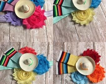 Fiesta Hair Clip - Fiesta Theme - Mexican Hat Headband - Fast Shipping