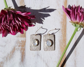 Moonstone & Sterling Silver Earrings