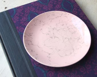 Pink Splatter Paint Plate, Mid-Century, Jackson Pollock Style, Splatter Paint Dishes, Freestyle, Paint Drops